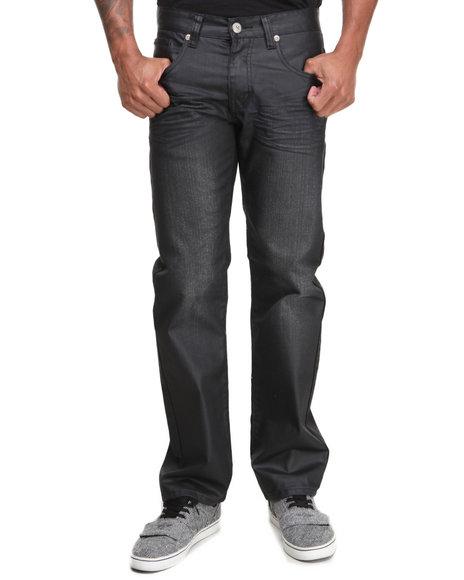 Basic Essentials - Men Black Coated Colored Slim Straight Denim Jeans