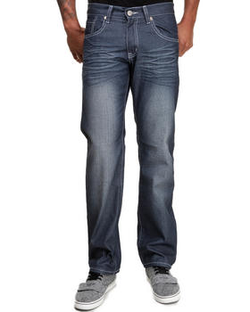 Basic Essentials - Coated Colored Slim Straight Denim Jeans