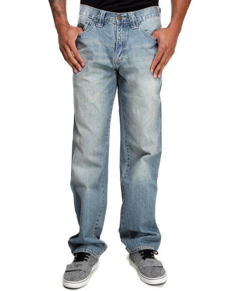 Pelle Pelle Medium Wash Gel Print Denim Jeans