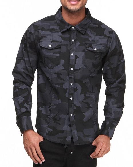 Buyers Picks - Men Camo Camo Twill Woven Shirt