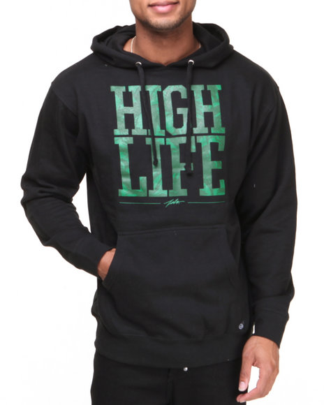 JSLV Black,Green High Life Pullover Hoodie