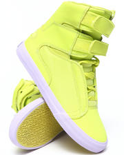 Women - Society Fluorescent Leather Sneakers