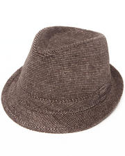 DRJ Accessories Shoppe - Fedora w/tonal check brush