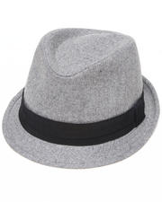 Men - Low Profile Solid Fedora w/band