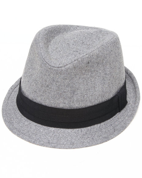 Drj Accessories Shoppe - Men Grey Low Profile Solid Fedora W/Band