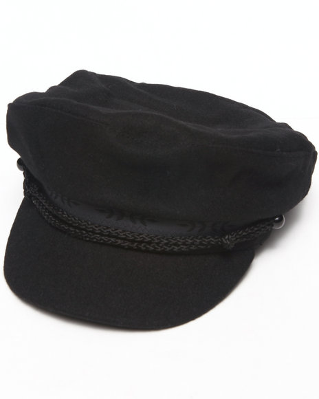 Drj Accessories Shoppe - Men Black Fisherman Cap W/Braid Band Detail
