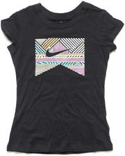 Girls - Shiny Lines Logo Tee (7-16)