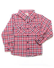 Arcade Styles - PLAID FLANNEL SHIRT (4-7)