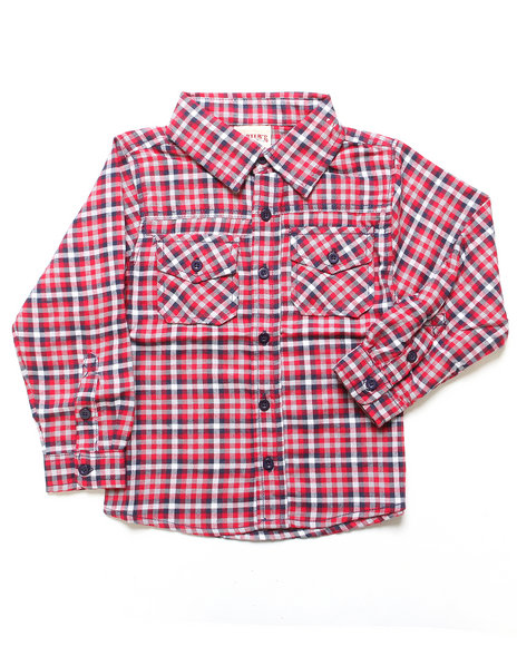 Arcade Styles Red Button-Downs