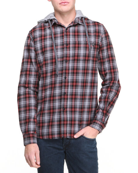 Buy Flannel Shirt w/ Print Hoodie Men s Shirts from WESC. Find WESC