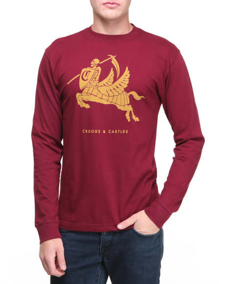 Crooks & Castles Red Burglary L/S T-Shirt