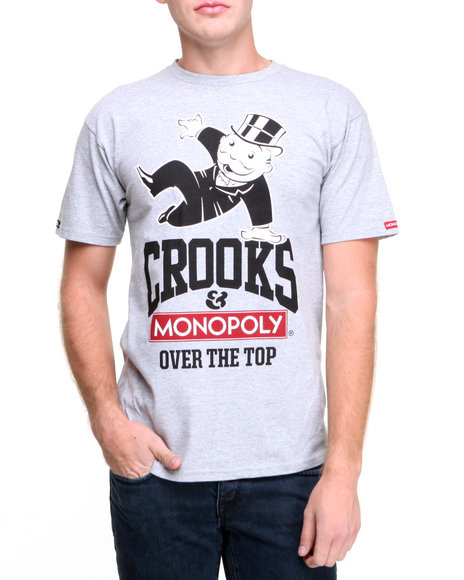 Crooks & Castles Grey Over The Top T-Shirt