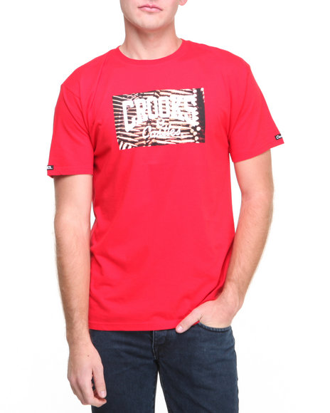 Crooks & Castles - Men Red Mad Ammo Core Logo T-Shirt