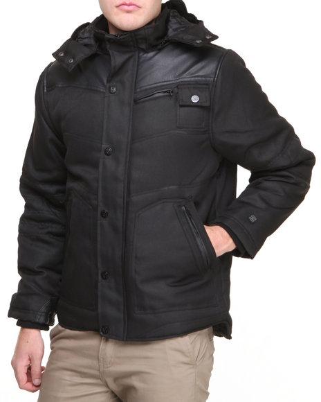 Basic Essentials - Men Black Ballistic Pleat Jacket