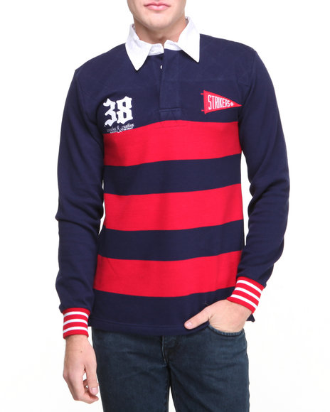 Crooks & Castles Navy Ncl Polo Rugby Polo