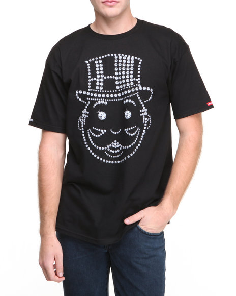 Crooks & Castles Black Big Face Karat T-Shirt