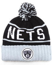 Mitchell & Ness - Brooklyn Nets NBA HWC / Current Vintage Block Cuffed Pom Knit Hat