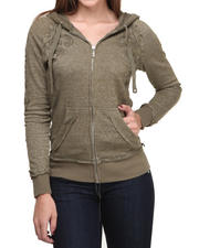 Seven7 Jeans - Logo Print Full Zip Bling Hoodie