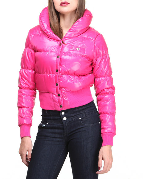 Basic Essentials - Women Pink Yvonne Bubble Coat