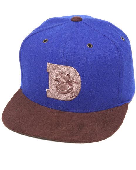Mitchell & Ness Denver Broncos Nfl Throwbacks Brown Winter Suede Blue