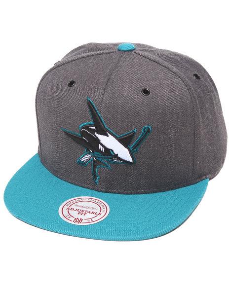 Mitchell & Ness San Jose Sharks Nhl Vintage / Current Dark Heather Grey