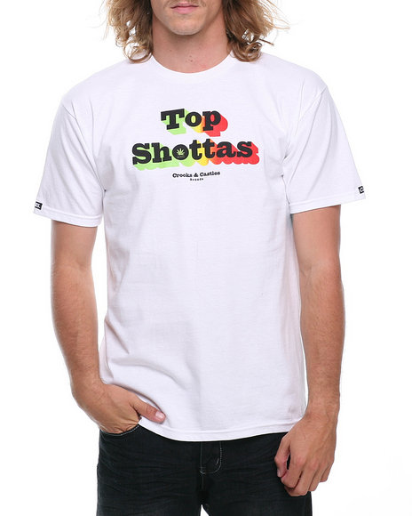 Crooks & Castles - Men White Shottas T-Shirt