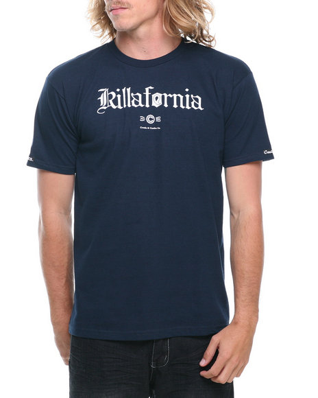 Crooks & Castles Navy Killafornia T-Shirt