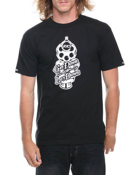 Crooks & Castles - Men Black Barrel T-Shirt