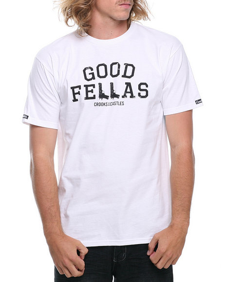 Crooks & Castles - Men White Good Fellas T-Shirt