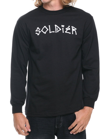 Crooks & Castles Black Solider L/S T-Shirt