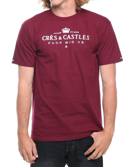 Crooks & Castles - Men Red Imperial T-Shirt - $23.99