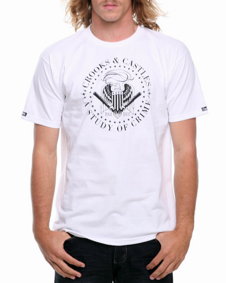 Crooks & Castles White Misconduct T-Shirt