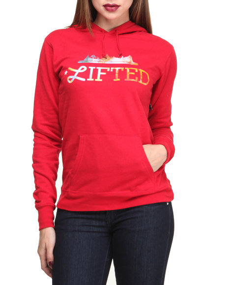 LRG Red Lifted Land Hoodie