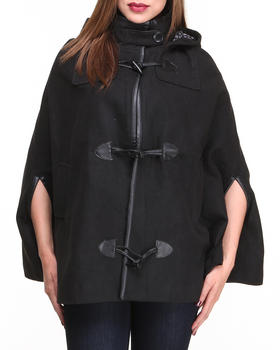 Basic Essentials - Mary Wool Heavy Weight Cape w/hood toggles