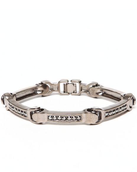 Drj Jewelry Shoppe - Men Silver Line Bling Bracelet