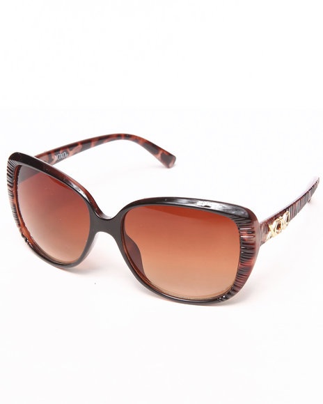 XOXO - Leopard Big Square Shaped Sunglasses