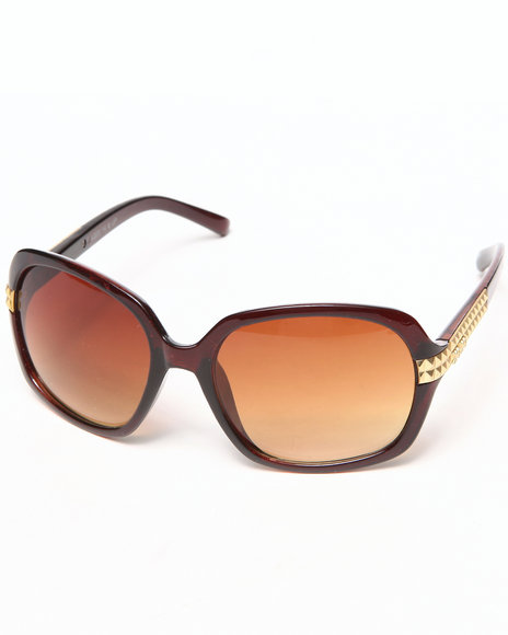 Xoxo Grommet Temple Sunglasses Brown