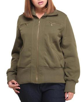 Basic Essentials - Lola Fleece Bomber Jacket (plus)