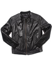Boys - Quilted Moto Jacket (8-20)