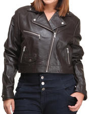 DRJ Leather Shoppe - Vegan Leather 4 Pocket Racer Jacket