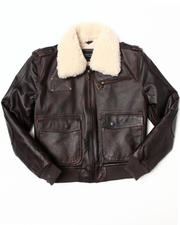 Boys - Leather Aviator Jacket (8-20)