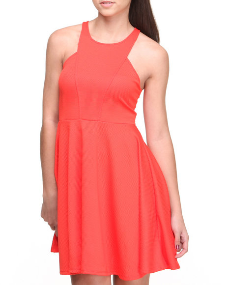 Fashion Lab - Women Orange Eva Skater Dress