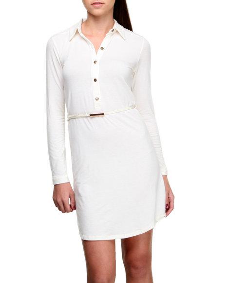 Fashion Lab Ivory Carrie Shirt Dress W/Belt