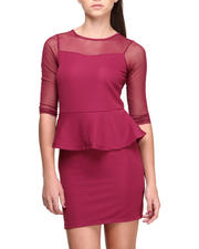 Fashion Lab - The Lady Peplum Dress w/mesh detail