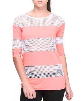 Fashion Lab - Dara Rugby Mesh Stripe Pullover