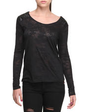 Fashion Lab - Jane Burnout Camo Long Sleeve Tee