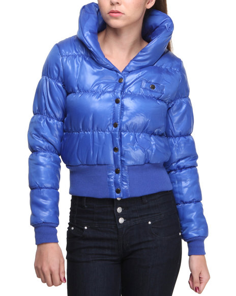 Basic Essentials - Women Blue Yvonne Bubble Coat