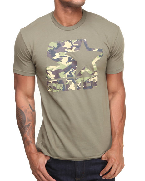 Starter Black Label - Men Olive Starter Camo Tee