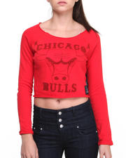 NBA MLB NFL Gear - Chicago Bulls Front Court Crop top Pullover Top