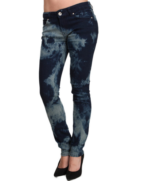 Basic Essentials - Women Blue Southwestern Denim Skinny Jean